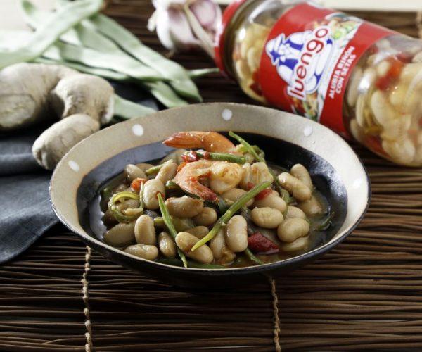 Receta de alubias con setas al estilo oriental
