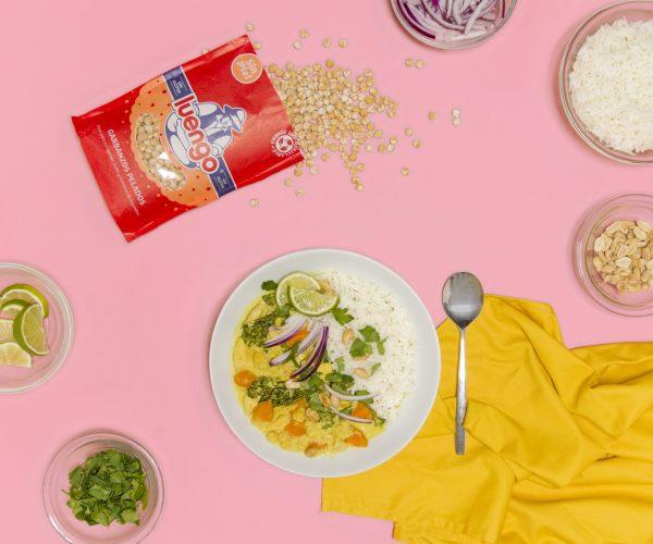 Curry de pollo con garbanzos