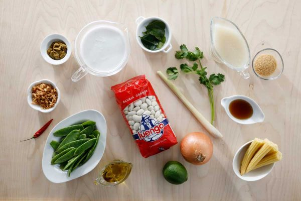 Receta de curry de alubia granja ingredientes