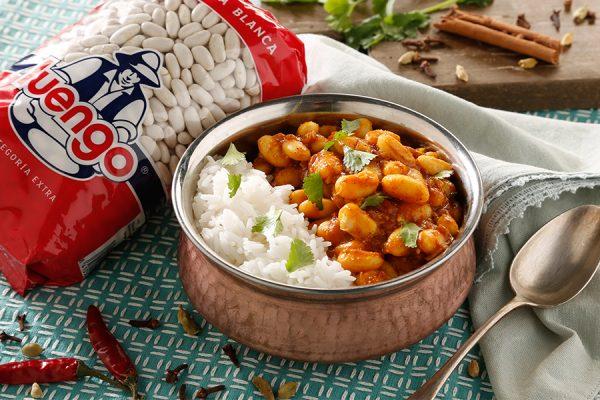 rajma masala con arroz