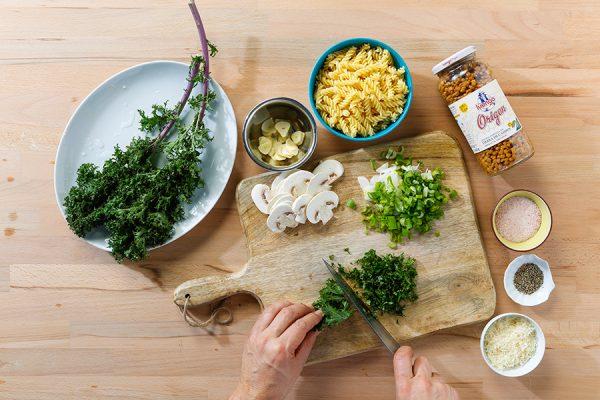 receta legumbres Luengo pasta con lentejas