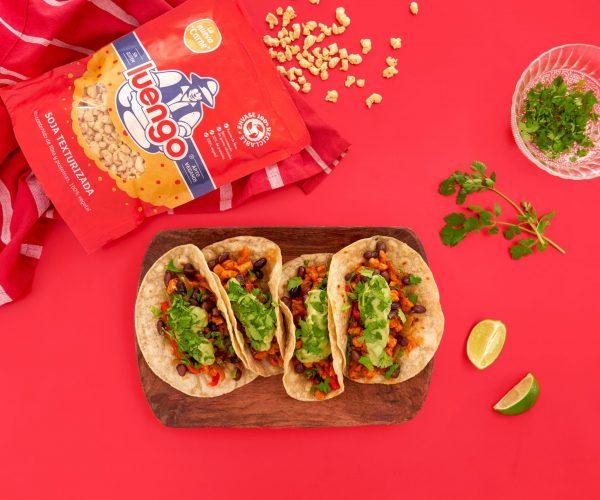 Tacos de soja texturizada